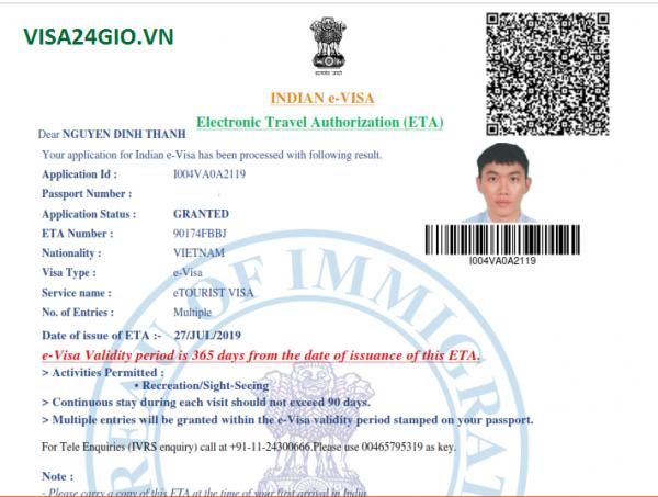 dịch vụ xin visa ấn độ online giá rẻ nhanh chóng